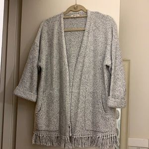 Madewell Shortsleeved Knitted Gray Cardigan - M